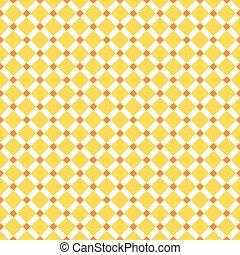 Seamless Yellow Diagonal Check Pattern