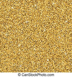 Seamless yellow gold glitter texture. Shimmer background....