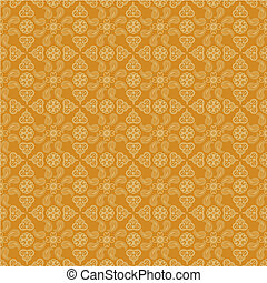 indian paisley background - Seamless yellow indian paisley...
