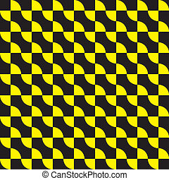 Seamless yellow on black decor element arabesque