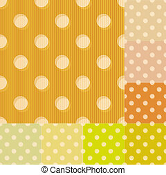 seamless yellow polka dots pattern