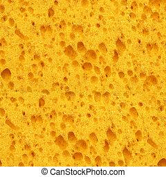 Seamless yellow sponge texture background.