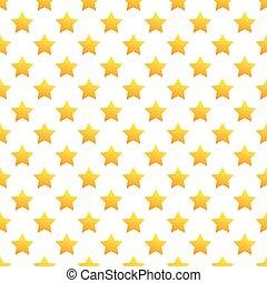 Seamless yellow stars pattern on white