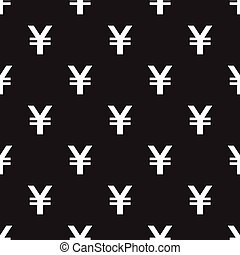 Seamless Yen Currency pattern on black