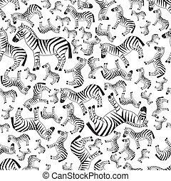 seamless, zebra, patrón