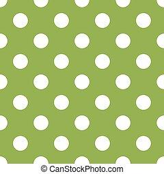 seamless, zielony, kropka polki, tło