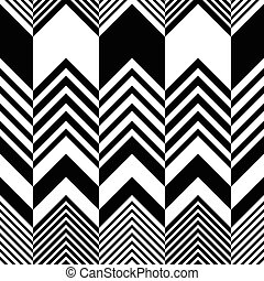 Seamless Zig Zag Pattern. Abstract Black and White ...