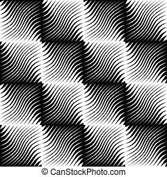 Seamless Zig Zag Pattern. Abstract Monochrome Background. ...