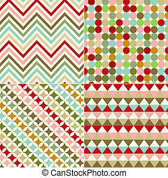 seamless zigzag and circles pattern - seamless zigzag and...