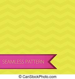 seamless, zigzag, chevron, pattern., verde, e, rosa, vettore, fondo., luminoso, retro, seamless, modello