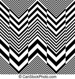 Seamless ZigZag Pattern. Abstract Black and White...