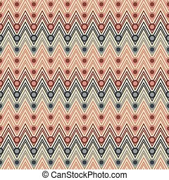 Seamless zigzag pattern with circles