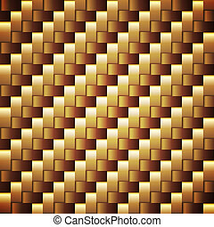 seamless, zlatý, opatřený plovací blánou, vektor, čtverec,...