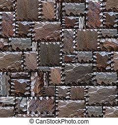 Seamlessly stony wall pattern.