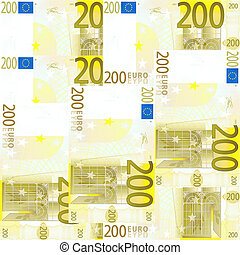 Seamlessly tileable 200 Euro's