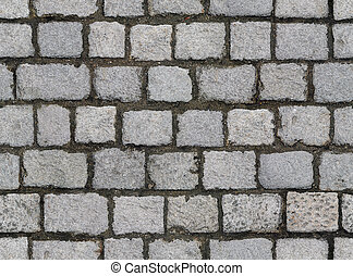 Seamlessly tiling cobbled road texture.