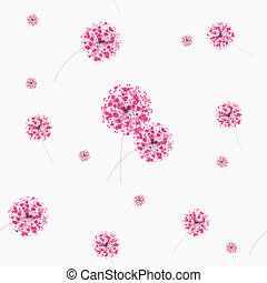 Seammless of patters. Abstract colorful background with flowers. Vector illustration