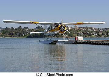 Seaplane #1 - A seaplane floats on standby.