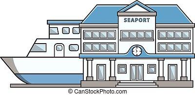 Seaport Doodle Illustration cartoon
