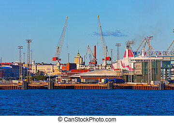 Seaport in Helsinki, Finland