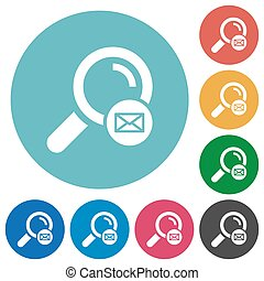 Search address flat round icons
