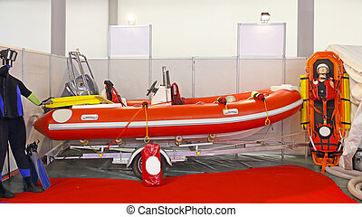 Search and Rescue - First Responder Equipment With Boat at ...