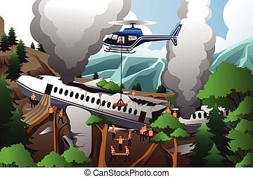 Search and rescue for airplane crash