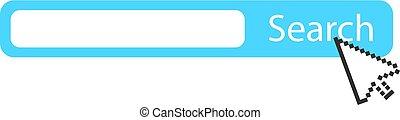 Search bar and arrow cursor icon