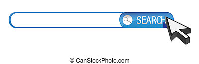search bar and cursor illustration design over white