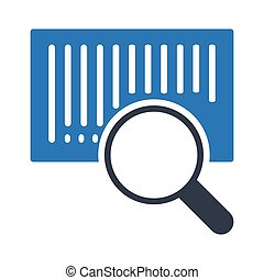 Search bar code glyph color icon