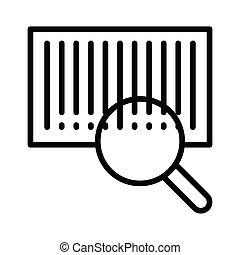 search bar code thin line icon