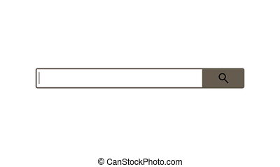 Search bar element design, search box on white background, 3d render