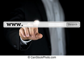 Search bar on a virtual computer screen