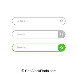 Search bar vector design element. Set of search bar boxes. UI interface template isolated on white background