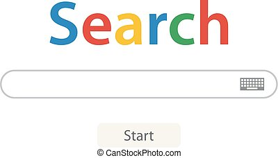 Search bar vector element design of search boxes ui template isolated on white background