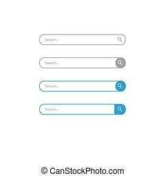 Search bar vector icons. Vector design abstract illustration