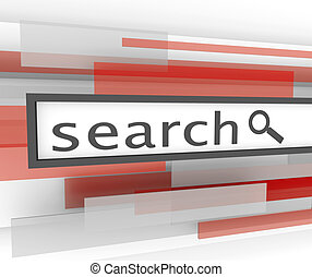 Search Bar - Website Magnifying Glass - A search bar with...
