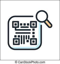 search barcode icon color