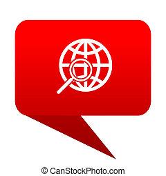 search bubble red icon.