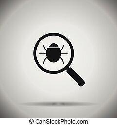 search bug icon . Virus