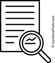 Search business document icon, outline style