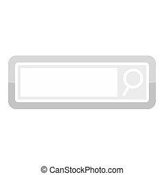 Search button icon, cartoon style