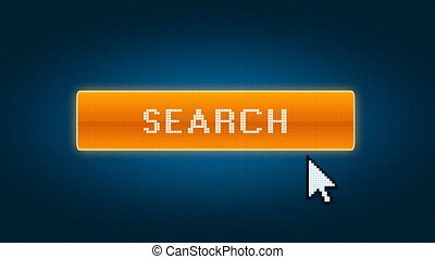 Search button with entry to cyberspace