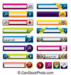 Search buttons for the web