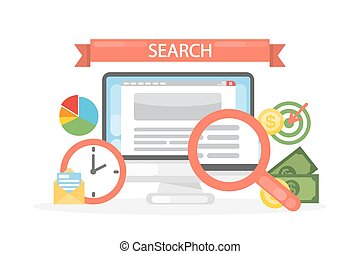 Search concept illustration.
