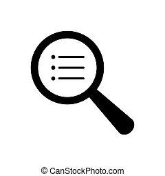 Search document icon vector for graphic design, logo, web site, social media, mobile app, ui illustration