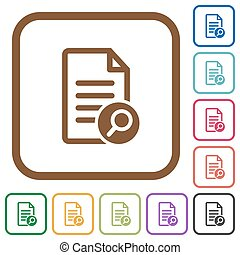 Search document simple icons