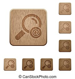 Search email address wooden buttons