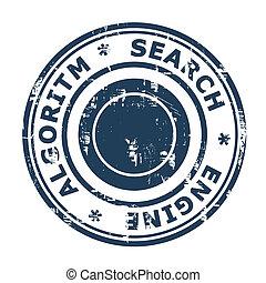 Search Engine Algorithm concept stamp