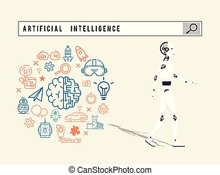 Search engine artificial intelligence concept